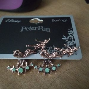 Disney Peter Pan & Wendy flying cuff earrings NEW